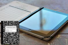 An iPad case from a genuine Composition Notebook… crazy awesome!