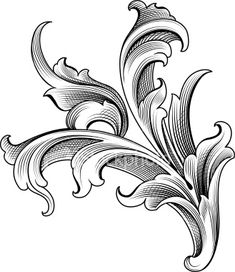 Baroque ornament royalty-free stock vector art Source by Motif Baroque, Baroque Pattern, Baroque Ornament, Gravure Metal, Rosemaling Pattern, Filigree Tattoo, Ornament Drawing, Scroll Pattern, Desenho Tattoo