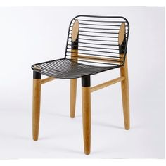Xaria Dining Chair- American Oak and Black Powder Coated Steel