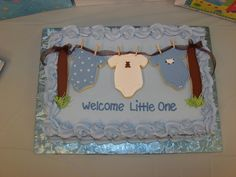 Clothesline Baby Shower Cake