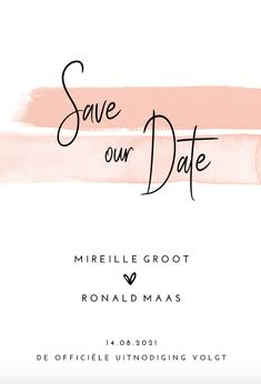 Stijlvolle Save the Date kaart Romantic Blush – Invitation Ideas for 2020 Foil Save The Dates, Modern Save The Dates, Wedding Save The Dates, Save The Date Magnets, Save The Date Postcards, Save The Date Cards, Save The Date Wording, Save The Date Invitations, Invites