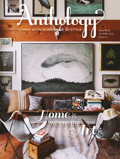 "Issue No. 12 cover. ""Home is Where the Art Is"""