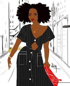 French Artist, Nicholle Kobi, Brings Black Girl Magic To Life Through Her Illustrations