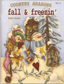 Album Archive - karen wisner country seasons vol 6 fall & freezin Wood Craft Patterns, Tole Painting Patterns, Paint Patterns, Henna Patterns, Artist Painting, Painting On Wood, Painted Books, Hand Painted, Tole Decorative Paintings