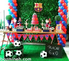 Festa do Barcelona para o Higor⚽ Soccer Birthday Parties, Birthday Themes For Boys, Football Birthday, Birthday Party Themes, Messi Birthday, Soccer Birthday Cakes, Dad Birthday, Fc Bacelona, Barcelona Soccer Party