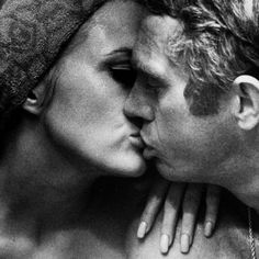 Faye Dunaway and Steve McQueen by Bill Ray for LIFE in 1967