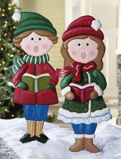 Amazon.com : Christmas Caroller Outdoor Garden Stakes Girl : Christmas Decorations : Patio, Lawn & Garden