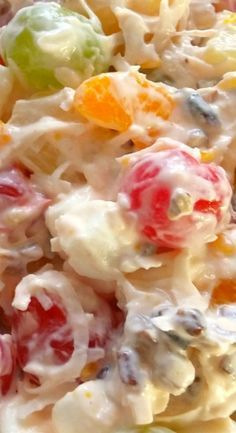 39 Ideas for fruit salad easy ambrosia Creamy Fruit Salads, Dessert Salads, Fruit Salad Recipes, Jello Salads, Drink Recipes, Fluff Desserts, Ambrosia Recipe, Ambrosia Salad, Ambrosia Food
