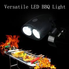 New Barbecue Grill Light Lights Durable Weather Resistant Versatile LED BBQ Light, Black Outdoor Barbeque, Barbecue Grill, Barbecue Recipes, Grilling, Luminous Flux, Lights, Weather, Walmart, Black