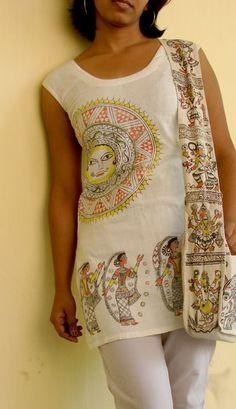 - by aparajita barai Saree Painting, Dress Painting, Fabric Painting, Fabric Art, Mural Painting, Paintings, Textile Patterns, Textile Design, Clothing Patterns