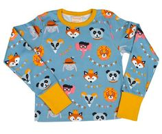 Moromini l/s top - Party with Animals Retro Baby Clothes - Baby Boy clothes - Danish Baby Clothes - Smafolk - Toddler clothing - Baby Clothing - Baby clothes Online