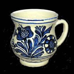 Pottery Vase, Ceramic Pottery, Contemporary Decorative Art, Naive Art, Romania, Flower Art, Folk Art, Objects, Traditional