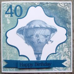 Masculine card for a 40 years birthday