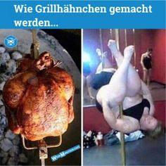 Fettenwitze - Witze über Dicke - Sexy Grillhähnchen Stripper