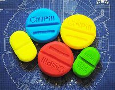 5x Handmade Chill Pill Soap  Novelty gag soap by NerdySoap on Etsy