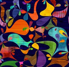Rex Ray -Flavor papers fish  I love vivid colors and original art works.