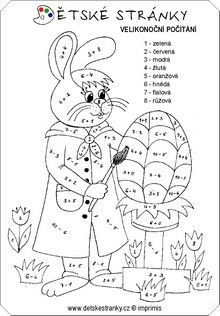 matematika pre 2 ročník - Hľadať Googlom Easter Speeches, Color By Numbers, Math Activities, Snoopy, 1, Black And White, Comics, Fictional Characters, Petra