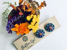 Colorful unique jewelry & accessories made from buttons by ButtonUPbyJulia Dorset Buttons, Jewelry Accessories, Unique Jewelry, Web Instagram, Something To Do, Etsy Seller, Jewelry Making, Colorful, Purple