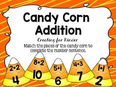 Free Candy Corn themed Math Center.