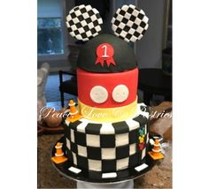 Peace, Love & Pastries #Nola #Mickey #FirstBirthday #Racing