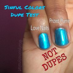 Just how close are Sinful Colors Love Nails (permanent shade) and Sinful Colors Prized Plume (limited edition opalescent topper, Spring 2015 Spring Fever collection)? Close enough that I took the topper back.