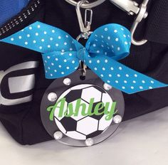 Soccer Bag Tag by GemLights on Etsy