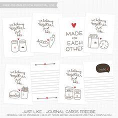 FREE Printable Journal Cards for Valentine's Day | MissTiina.com {Blog}