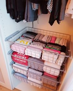 10 Tidying Life Hacks From Ma. 10 Tidying Life Hacks From Marie Kondo - Marie Kondo is the queen of tidying. Want to know the secret to the life-changing magic of tidying up? Check out 10 of Marie Kondo's essential tips. Home Organisation, Organization Hacks, Dorm Closet Organization, Storage Hacks, Clothing Organization, Dorm Storage, Organizing Ideas, Small Closet Storage, Closet Hacks