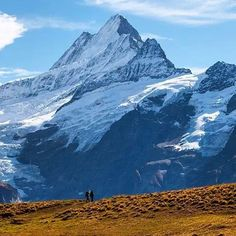 The three sister mountains. The Virgin, the Monk and the Ogre. Bernese Oberland Swiss Alps