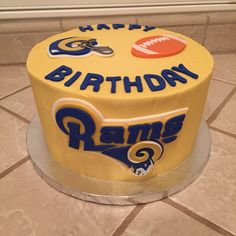 Rams Football Cake By Ambers Little Cupcakery