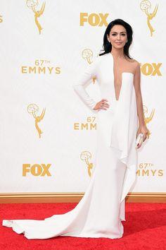 Premios Emmy 2015 - Nazanin Boniadi por Stephan Rolland and Harry Kotlar earrings! I Love Fashion, Star Fashion, Award Show Dresses, Girl M, Stephane Rolland, Celebs, Celebrities, Glamour, Black Tie