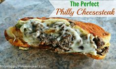 The Perfect Philly Cheesesteak . The Perfect Philly Cheesesteak - you'll be surprised at how easy it actually is to make your own restaurant quality philly Steak Sandwich Recipes, Steak Recipes, Cooking Recipes, Potato Recipes, Pasta Recipes, Crockpot Recipes, Soup Recipes, Chicken Recipes, Vegetarian Recipes