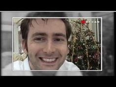 David Tennant watches his first episode Of Doctor Who, The Christmas Invasion, at home with his family in December 2005.