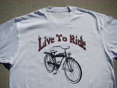 Father's Day Gift  Live To Ride  Retro by SweetBohemianLife, $18.00