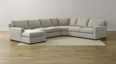Axis II 4-Piece Sectional Sofa | Crate and Barrel