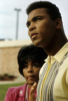CIRCA The young Heavyweight Champion Muhammad Ali with his wife circa late My Black Is Beautiful, Black Love, Muhammad Ali Boxing, Float Like A Butterfly, Ali Quotes, Sport Icon, Before Us, African American History, My People