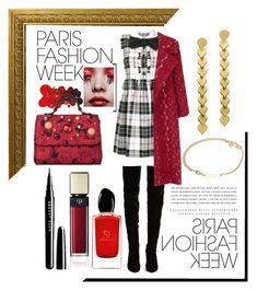 """Parisian"" by madmadry on Polyvore featuring Miu Miu, Christian Louboutin, Dolce&Gabbana, The 2nd Skin Co., A.P.C., Clé de Peau Beauté, Giorgio Armani, Kerr®, parisfashionweek and Packandgo"