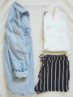 shorts & chambray = a perfect combination
