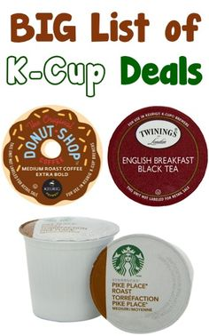 http://www.phomz.com/category/Coffee-Maker/ BIG List of K-Cup Deals ~ as low as 42c each + FREE Shipping! #keurig #kcups #coffee