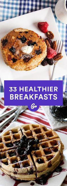 Breakfast is the most important meal of the day, so don't waste it on sugary junk!  #healthy #breakfast #recipes http://greatist.com/health/33-healthier-breakfast-alternatives: