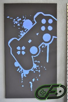 Playstation 3 Video Game Room Painting by ControlFreakGameArt