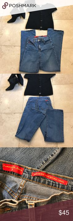 NY DJ tummy tuck jeans size 4/ 32 inseam Great jeans and so comfortable NYDJ Jeans Straight Leg