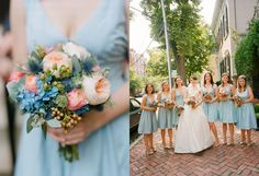 blue and peach wedding color schemes - Google Search