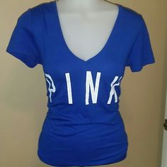 VICTORIA'S SECRET PINK TEE Super cute Atlanta Braves PINK tee, so comfy Victoria's Secret Tops Tees - Short Sleeve