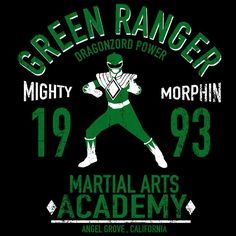 Dragon Ranger T Shirt By Absolemstudio Design By Humans Power Rangers T Shirt, Tommy Oliver, Day Of The Shirt, Fox Kids, Green Ranger, Mighty Morphin Power Rangers, Geek Squad, Art Academy, Black Dragon