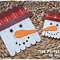 Diy : faire un bonhomme de neige en bâtonnets de bois