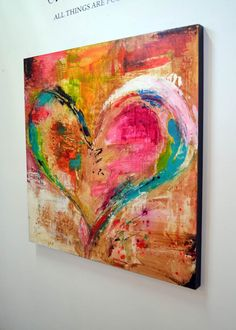 Love is Divine Canvas Print / Canvas Art by Ivan Guaderrama Heart Painting, Christian Art, Christian Paintings, Love Art, Painting Inspiration, Watercolor Art, Art Projects, Abstract Art, Art Gallery