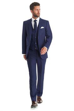 Lanificio F.lli Cerruti Dal 1881 Cloth Tailored Fit Bright Blue Herringbone Mix and Match Suit Jacket Black Suit Wedding, Wedding Suits, Mens Fashion Suits, Mens Suits, Groom Suits, Groom Attire, Three Piece Suit, 3 Piece Suits, Blue Suit Jacket