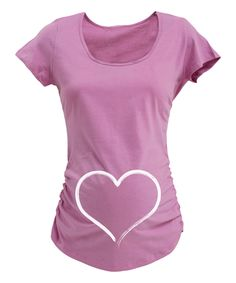 Another great find on #zulily! Lavender Heart Maternity Scoop Neck Tee by Belly Love #zulilyfinds