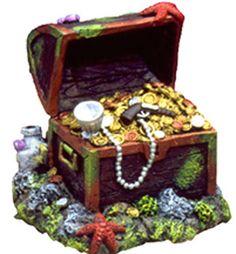 1000 images about aquarium on pinterest aquarium for Fish tank treasure chest